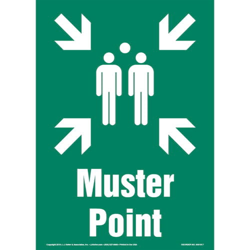 Muster Point Sign with Icon - Portrait (013584)