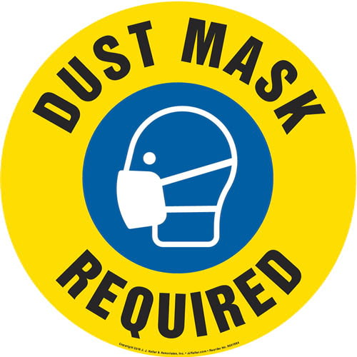 Respiratory Protection Required Sign with Icon - Round (013644)