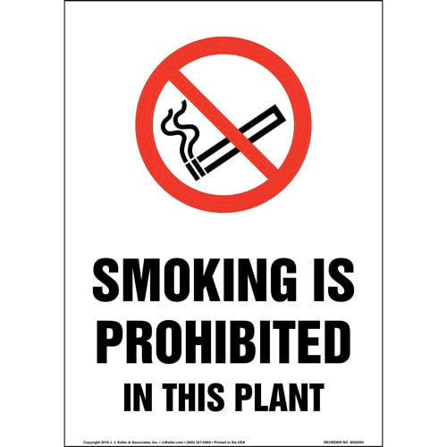 Smoking Is Prohibited In This Plant Sign with Icon (014202)