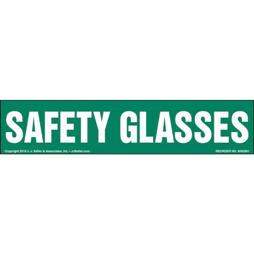 Safety Glasses Label (014213)