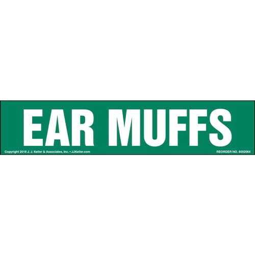 Ear Muffs Label (014216)