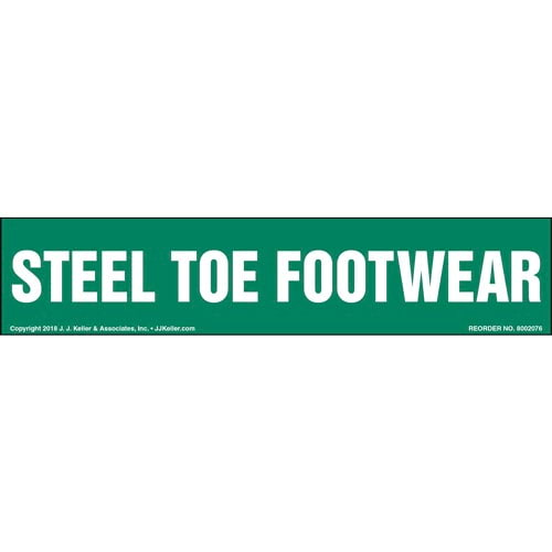 Steel Toe Footwear Label (014228)