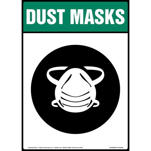 Dust Mask Sign with Icon (014232)