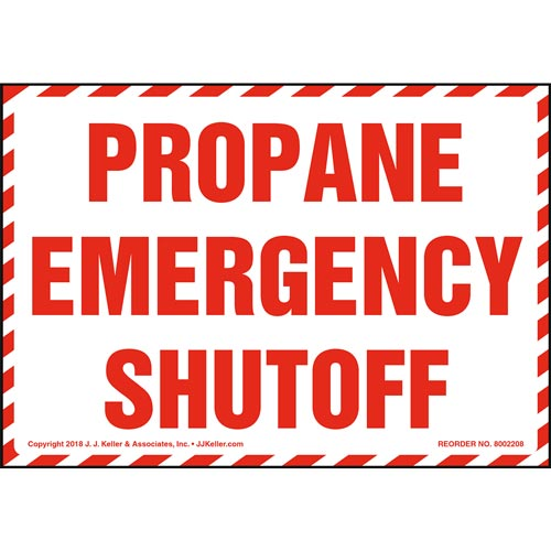 Propane Emergency Shutoff Label (014742)