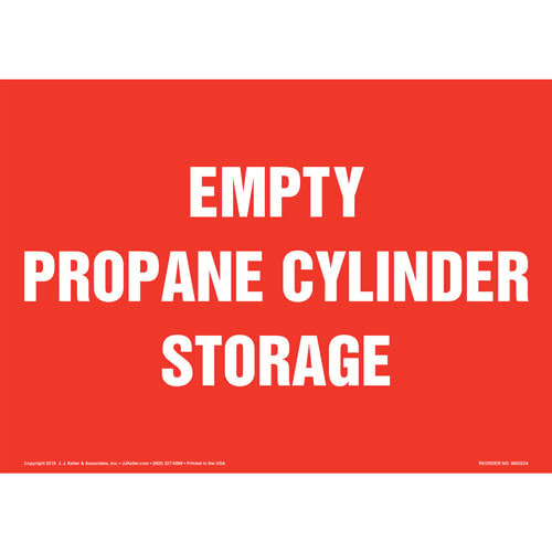 Empty Propane Cylinder Storage Sign (014711)