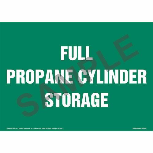 Full Propane Cylinder Storage Sign (014712)