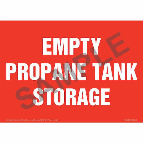 Empty Propane Tank Storage Sign (014713)