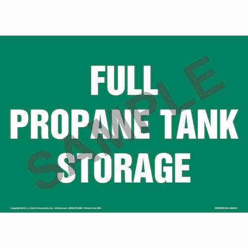 Full Propane Tank Storage Sign (014714)