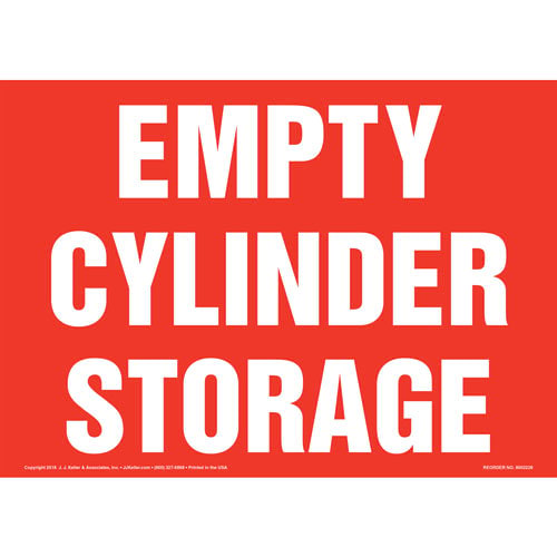Empty Cylinder Storage Sign (014715)