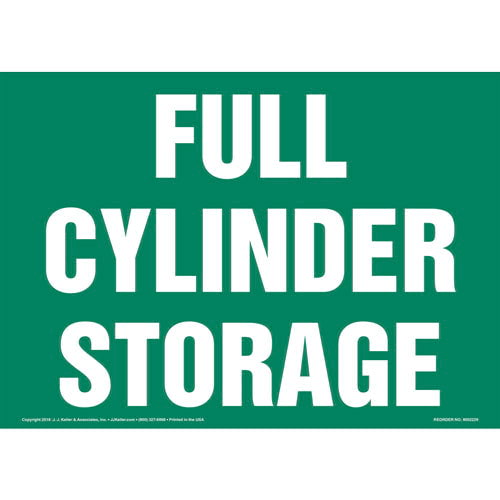 Full Cylinder Storage Sign (014716)