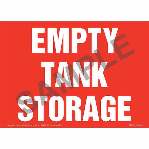 Empty Tank Storage Sign (014717)