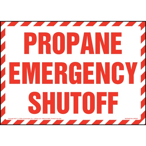 Propane Emergency Shutoff Sign (014741)