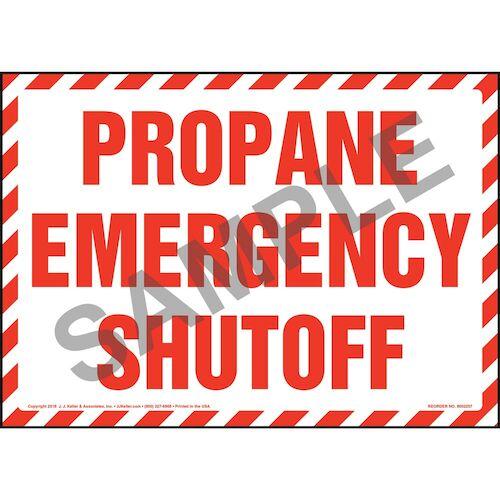 Propane Emergency Shutoff Sign (014741)