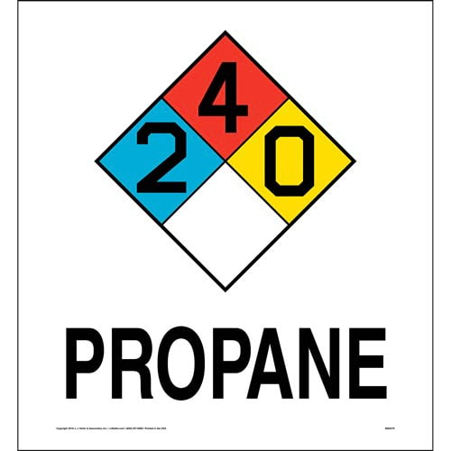 Propane 2-4-0 Sign - NFPA (014757)