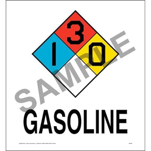 Gasoline 1-3-0 Sign - NFPA (014758)