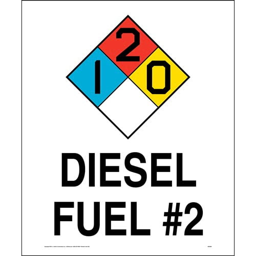 Diesel Fuel #2 1-2-0 Sign - NFPA (014759)
