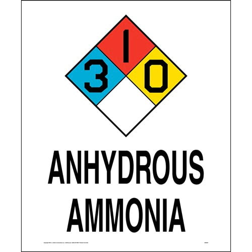 Ammonia Anhydrous 3-1-0 Sign - NFPA (014760)