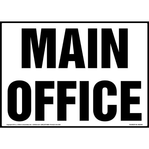 Main Office Sign (015265)
