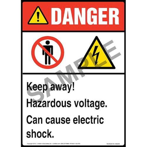 Danger High Voltage Keep Away metal tin sign interior design