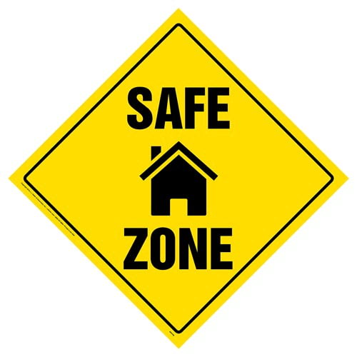 Safe Zone Sign with Icon (015384)