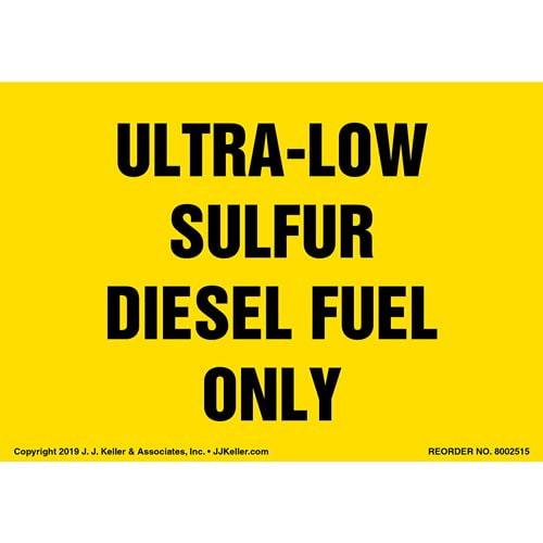 Ultra-Low Sulfur Diesel Fuel Only Label - Landscape (015507)