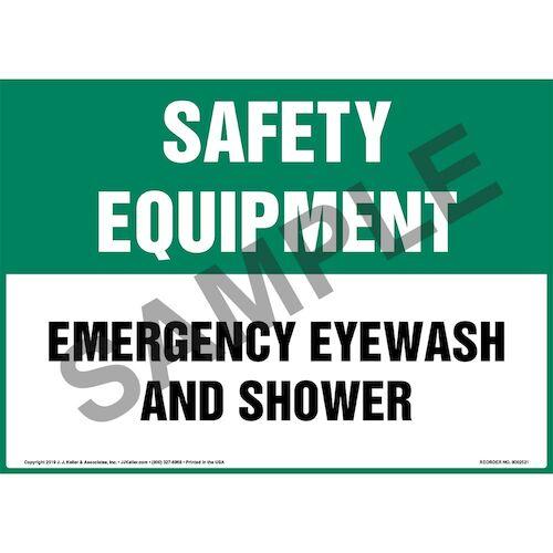 Safety Equipment: Emergency Eyewash And Shower Sign - OSHA (015513)
