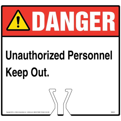 Danger: Unauthorized Personnel Keep Out Sign - ANSI (015842)