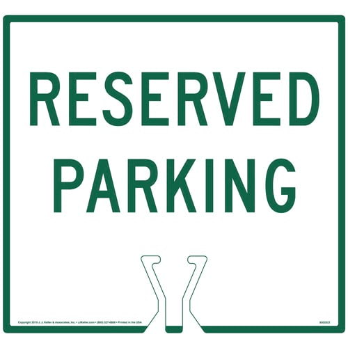 Green Reserved Parking Sign (015852)