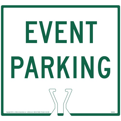 Green Event Parking Sign (015856)