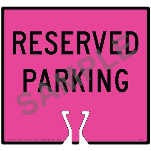 Black Reserved Parking Sign (015863)