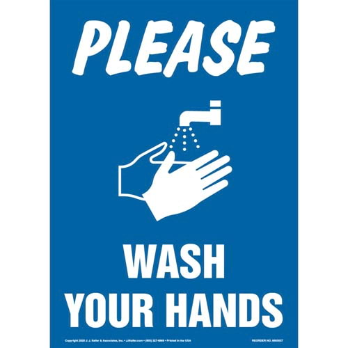 Please Wash Your Hands Sign (017221)