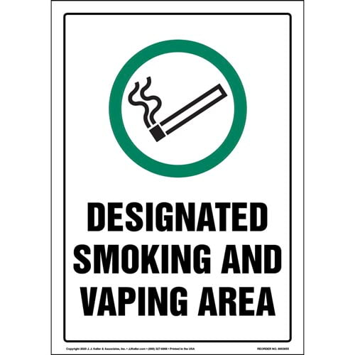 Smoking and Vaping Area with Smoking Allowed Icon Sign (017234)