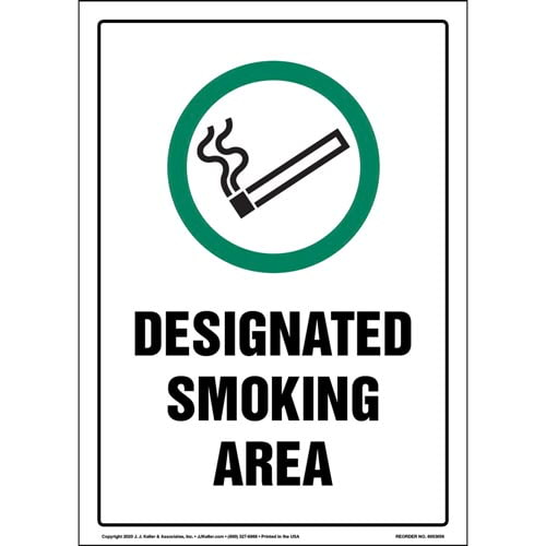 Sign Clearly Indicates Where Smoking Is Allowed (017235)
