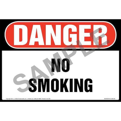 Danger: No Smoking Sign – OSHA – Extra-Large (018290)