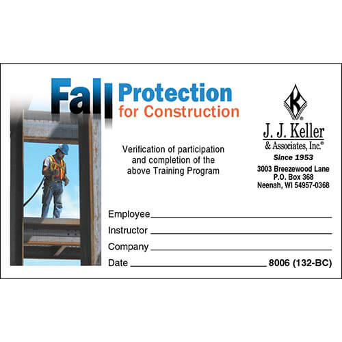 Fall protection for construction training wallet cards fall protection for construction training wallet cards 00240 pronofoot35fo Images