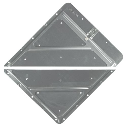 Riveted Split Aluminum Placard Holder w/Back Plate (02550)