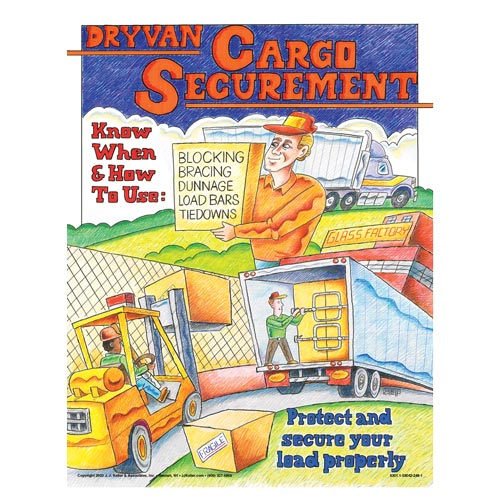 Dry Van Cargo Securement Training Program - Know How & When to Use Securement Poster (00556)
