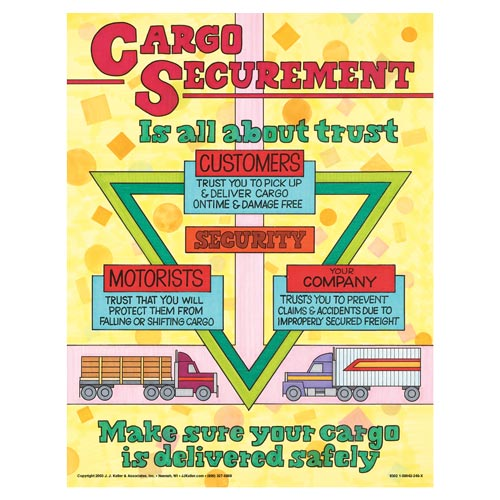 Dry Van Cargo Securement Training Program, Second Edition - Cargo Securement is All About Trust Poster (00558)