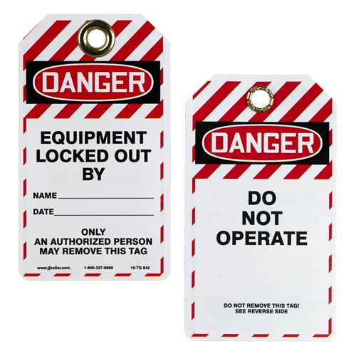 Double-Sided Lockout/Tagout Tag - Danger Do Not Operate (01433)