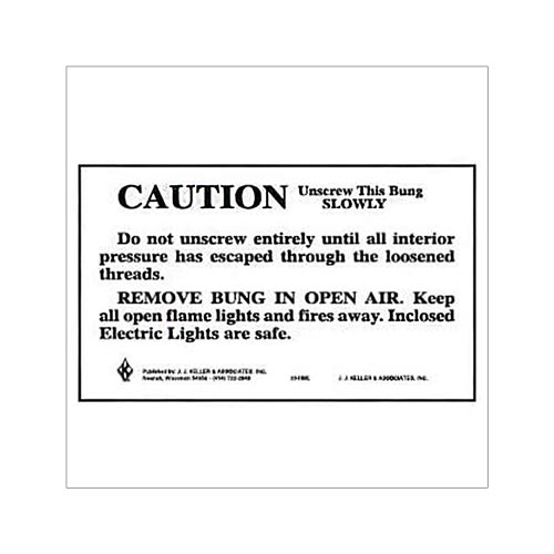 Caution - Unscrew this Bung Slowly Package Marking (01731)