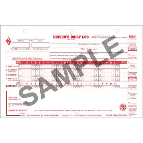 daily log sheet