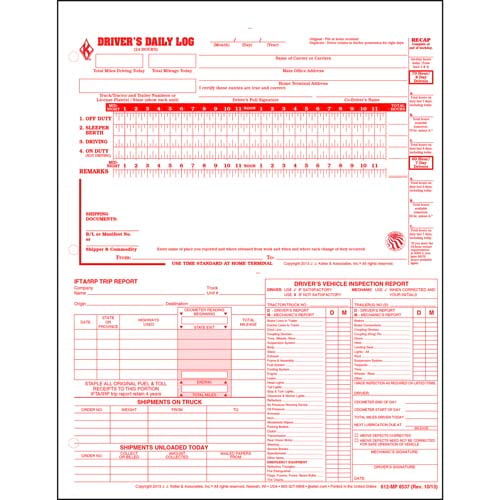 5-In-1 Driver's Daily Log, Loose-Leaf Format - Retail Packaging (02788)