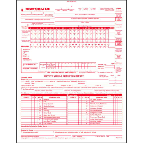 Canadian 2-In-1 Driver's Daily Log Book, 2-Ply, w/Carbon, w/Detailed DVIR - Stock (04143)