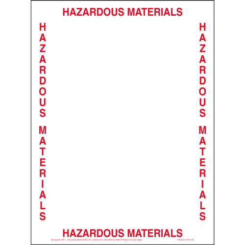 Hazardous Materials Bill of Lading Envelope (01788)