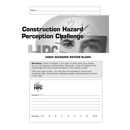 Construction Hazard Perception Challenge® - Video Scenario Review Blanks (00118)