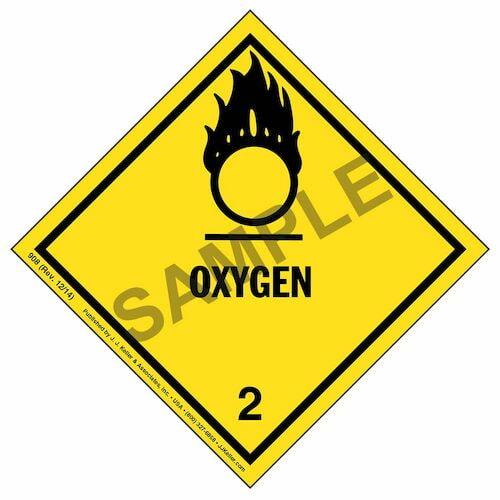 Class 2 Oxygen Labels (01406)