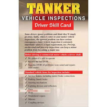 Tanker Vehicle Inspections - Driver Skills Cards (00868)