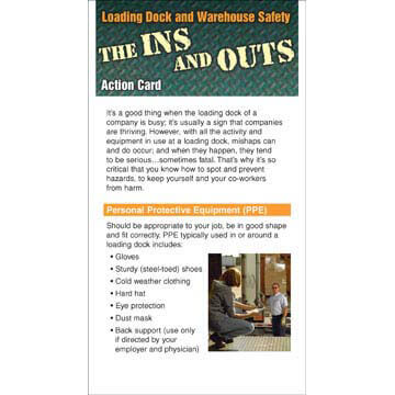 The Ins and Outs of Loading Dock and Warehouse Safety - Action Cards (00376)