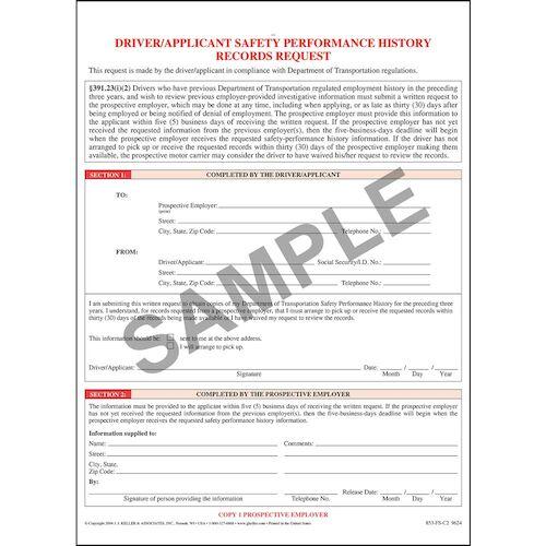 Driver/Applicant Records Request (01940)