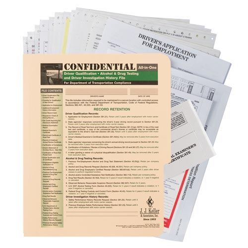 Confidential All-In-One Driver Qualification Packet (Single Copy) (00101)